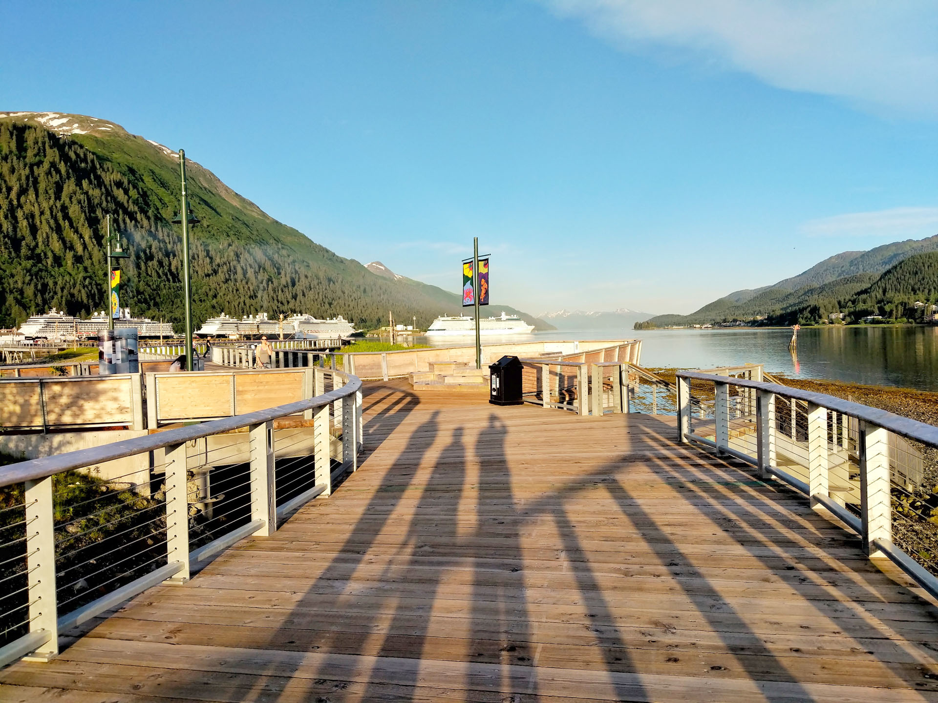 A picture containing sky, outdoor, seawalk, pier