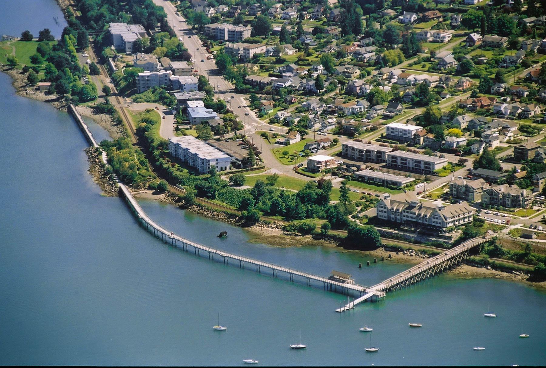 Birdseye view of Taylor Avenue Dock
